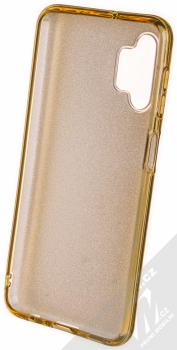 1Mcz Shining TPU třpytivý ochranný kryt pro Samsung Galaxy A32 5G zlatá (gold) zepředu