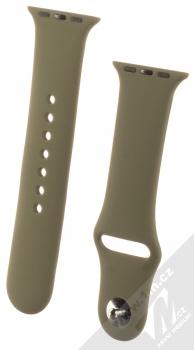 1Mcz Silikonový sportovní řemínek pro Apple Watch 38mm, Watch 40mm olivově zelená (olive green)