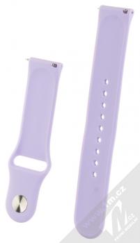 1Mcz Silikonový sportovní řemínek s univerzální osičkou 22mm šeříkově fialová (lilac) zezadu
