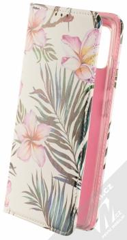 1Mcz Trendy Book Oleandr a kapradí 1 flipové pouzdro pro Samsung Galaxy A51 bílá (white)