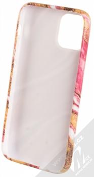 1Mcz Trendy Mramor TPU ochranný kryt pro Apple iPhone 12 mini zlatá růžová (gold pink) zepředu