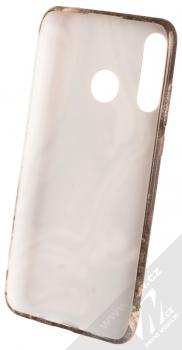 1Mcz Trendy Mramor TPU ochranný kryt pro Huawei P30 Lite bílá šedá (white grey) zepředu