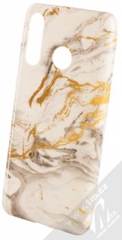1Mcz Trendy Mramor TPU ochranný kryt pro Huawei P30 Lite bílá zlatá šedá (white gold grey)