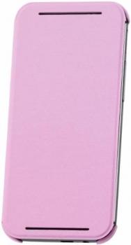 HTC HC V941 originální pevné pouzdro s flipem pro HTC One (M8), One M8s růžová (pink)