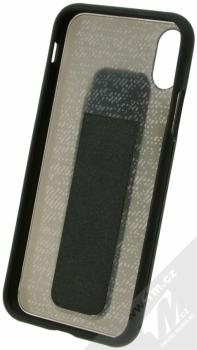 Adidas Grip Case ochranný kryt s úchytem na ruku pro Apple iPhone X (CJ3524) černá (black) zepředu