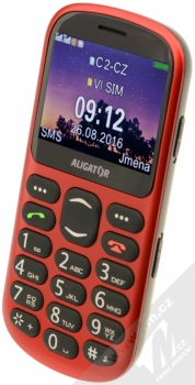 ALIGATOR A880 SENIOR červená (red) šikmo zepředu