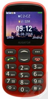 ALIGATOR A880 SENIOR červená (red) zepředu
