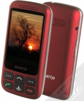 Aligator VS900 Senior + pouzdro Golla v ceně 199Kč ZDARMA červená stříbrná (red silver)
