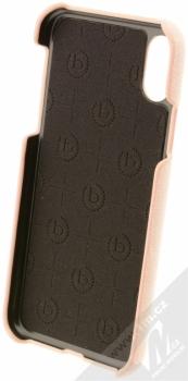 Bugatti Londra Ultrasuede Snap Case ochranný kryt ze semiše pro Apple iPhone X světle růžová (light pink) zepředu