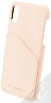 Bugatti Londra Ultrasuede Snap Case ochranný kryt ze semiše pro Apple iPhone X světle růžová (light pink)