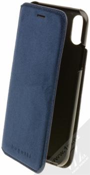 Bugatti Parigi Ultrasuede Booklet Case flipové pouzdro ze semiše pro Apple iPhone X tmavě modrá (dark blue)