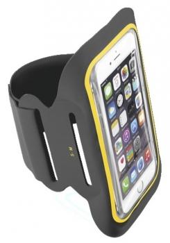 CellularLine Armband Fitness sportovní pouzdro na paži pro mobilní telefon, mobil, smartphone do 5,2 černá (black)