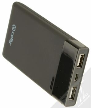 Celly PowerBank záložní zdroj 5000mAh s microUSB konektorem pro mobilní telefon, mobil, smartphone, tablet černá (black) konektory