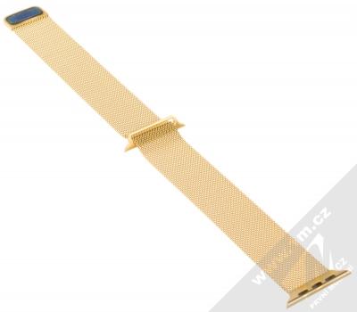 Dahase Milanese Magnetic magnetický pásek z leštěného kovu na zápěstí pro Apple Watch 42mm, Watch 44mm zlatá (gold) rozepnuté zezadu