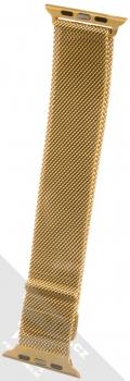 Dahase Milanese Magnetic magnetický pásek z leštěného kovu na zápěstí pro Apple Watch 42mm, Watch 44mm zlatá (gold) zezadu