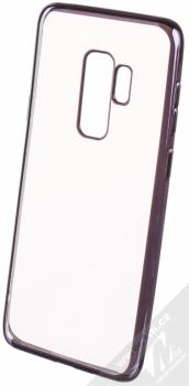 Devia Crystal Soft Case Glitter pokovený ochranný kryt s motivem pro Samsung Galaxy S9 Plus černá (gunmetal black)