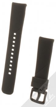 Devia Deluxe Sport Band Diagonal silikonový pásek na zápěstí s univerzální osičkou 20mm černá (black)