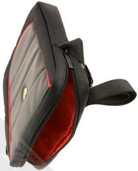Ferrari Scuderia Universal Tablet univerzální taška přes rameno pro tablety až 10 palců (FESH10BK) otevřené