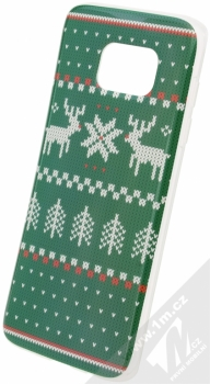 Flavr Ugly Xmas Sweater ochranný kryt s motivem pleteného svetru pro Samsung Galaxy S7 Edge zelená (green)