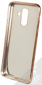 Forcell Brylant ochranný kryt s třpytkami pro Samsung Galaxy A6 Plus (2018) růžově zlatá (rose gold) zepředu