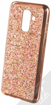 Forcell Brylant ochranný kryt s třpytkami pro Samsung Galaxy A6 Plus (2018) růžově zlatá (rose gold)