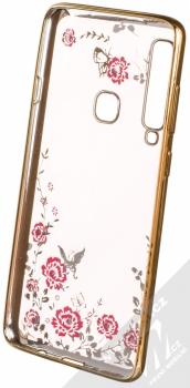 Forcell Diamond TPU ochranný kryt pro Samsung Galaxy A9 (2018) zlatá (gold) zepředu