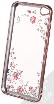 Forcell Diamond TPU ochranný kryt pro Xiaomi Redmi Go růžově zlatá (rose gold) zepředu