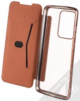 Forcell Electro Book flipové pouzdro pro Samsung Galaxy S20 Ultra růžově zlatá (rose gold) otevřené