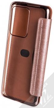 Forcell Electro Book flipové pouzdro pro Samsung Galaxy S20 Ultra růžově zlatá (rose gold) zezadu