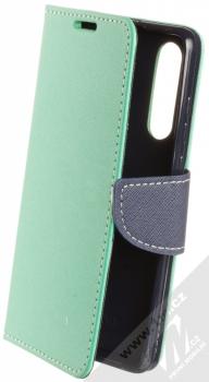 Forcell Fancy Book flipové pouzdro pro Huawei P30 mátově zelená modrá (mint blue)
