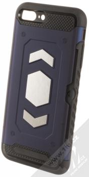 Forcell Magnet odolný ochranný kryt s kapsičkou a kovovým plíškem pro Apple iPhone 7 Plus, iPhone 8 Plus tmavě modrá (dark blue)