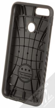 Forcell Magnet odolný ochranný kryt s kapsičkou a kovovým plíškem pro Huawei P Smart černá (black) zepředu