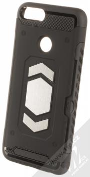 Forcell Magnet odolný ochranný kryt s kapsičkou a kovovým plíškem pro Huawei P Smart černá (black)