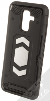 Forcell Magnet odolný ochranný kryt s kapsičkou a kovovým plíškem pro Samsung Galaxy A6 Plus (2018) černá (black)