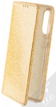 Forcell Shining Book třpytivé flipové pouzdro pro Huawei P30 Lite zlatá (gold)