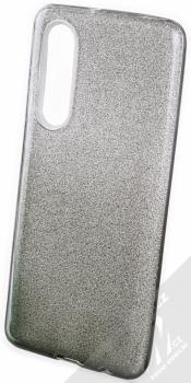 Forcell Shining Duo třpytivý ochranný kryt pro Huawei P30 stříbrná černá (silver black)