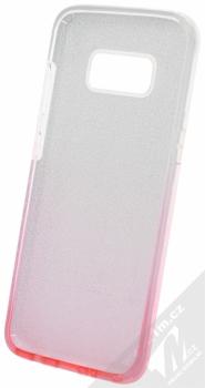 Forcell Shining třpytivý ochranný kryt pro Samsung Galaxy S8 stříbrná růžová (silver pink) zepředu