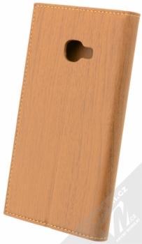 Forcell Wood flipové pouzdro s motivem dřeva pro Samsung Galaxy Xcover 4 hnědý dub (oak brown) zezadu