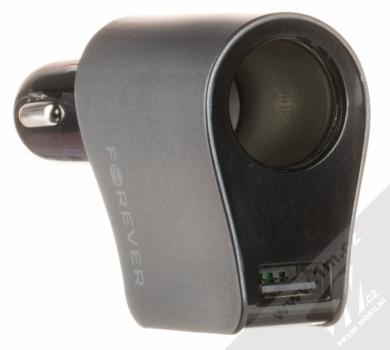 Forever CSS-04 Car Socket Splitter 3xUSB nabíječka do auta s 3x USB výstupem a stavovým LED displejem černá (black) zapalovač a USB konektor