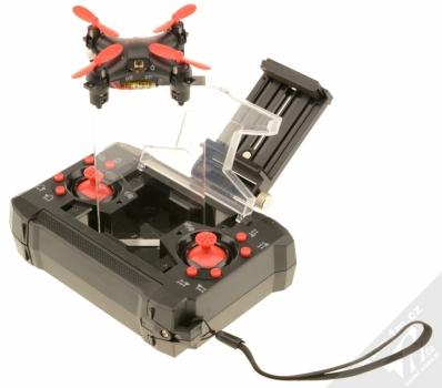 Forever Pixel Drone miniaturní létající dron černá (black) dron vylétá