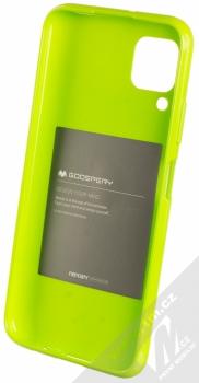 Goospery Jelly Case TPU ochranný kryt pro Huawei P40 Lite limetkově zelená (lime green) zepředu