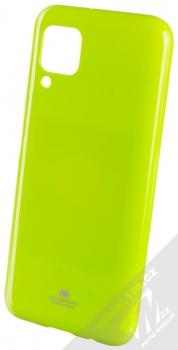 Goospery Jelly Case TPU ochranný kryt pro Huawei P40 Lite limetkově zelená (lime green)