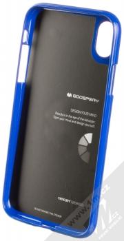Goospery Jelly Case TPU ochranný silikonový kryt pro Apple iPhone XR tmavě modrá (dark blue) zepředu