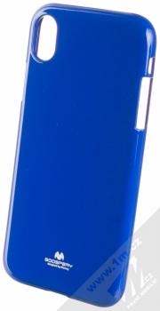 Goospery Jelly Case TPU ochranný silikonový kryt pro Apple iPhone XR tmavě modrá (dark blue)