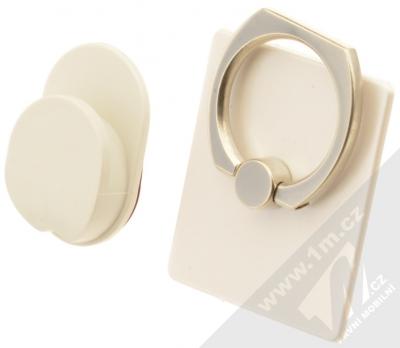 GreenGo Sticky Smart-Ring držák na prst bílá (white)