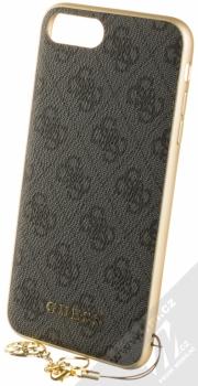 Guess Charms 4G ochranný kryt pro Apple iPhone 6 Plus, iPhone 6S Plus, iPhone 7 Plus, iPhone 8 Plus (GUHCI8LGF4GGR) šedá zlatá (grey gold)