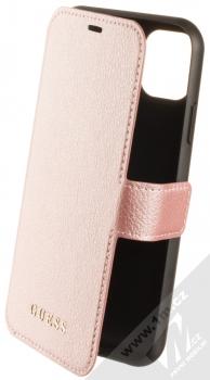 Guess IriDescent Book flipové pouzdro pro Apple iPhone 11 (GUFLBKN61IGLRG) růžově zlatá (rose gold)