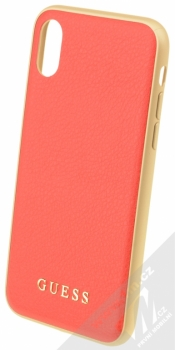 Guess IriDescent Hard Case ochranný kryt pro Apple iPhone X, iPhone XS (GUHCPXIGLRE) červená zlatá (red gold)