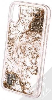 Guess Liquid Glitter Question of Heart ochranný kryt s přesýpacím efektem třpytek pro Apple iPhone X, iPhone XS (GUHCPXGLHFLGO) zlatá (gold) animace 3