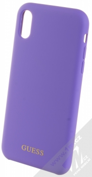 Guess Silicone Logo ochranný kryt pro Apple iPhone XR (GUHCI61LSGLUV) fialová (violet)